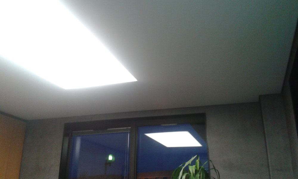 pose d 39 un plafond tendu avec bande lumineuse lm plafond tendu. Black Bedroom Furniture Sets. Home Design Ideas