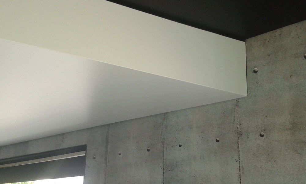 mur acoustique et plafond tendu décaissé